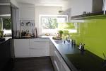Küche eingebaut Sicht über ganze Küche